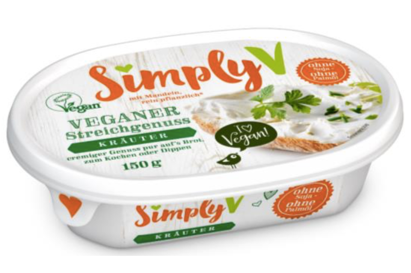 SimplyV Vegan cream cheese - herbs